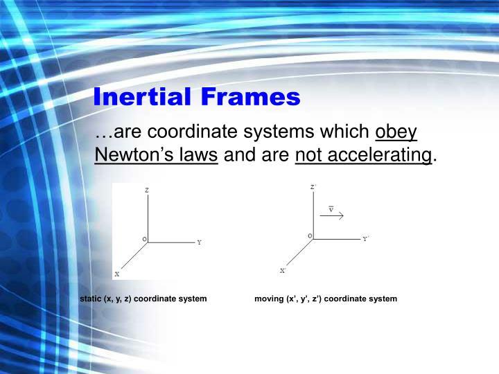 Inertial frames