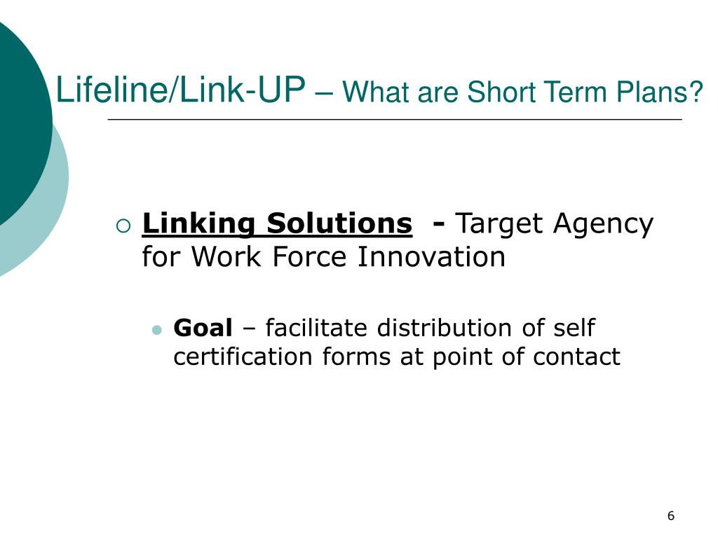 Lifeline/Link-UP