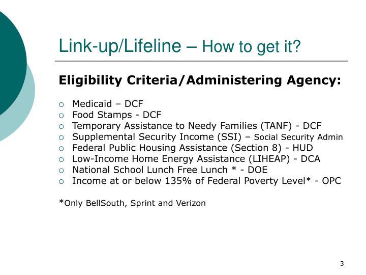 Link up lifeline how to get it