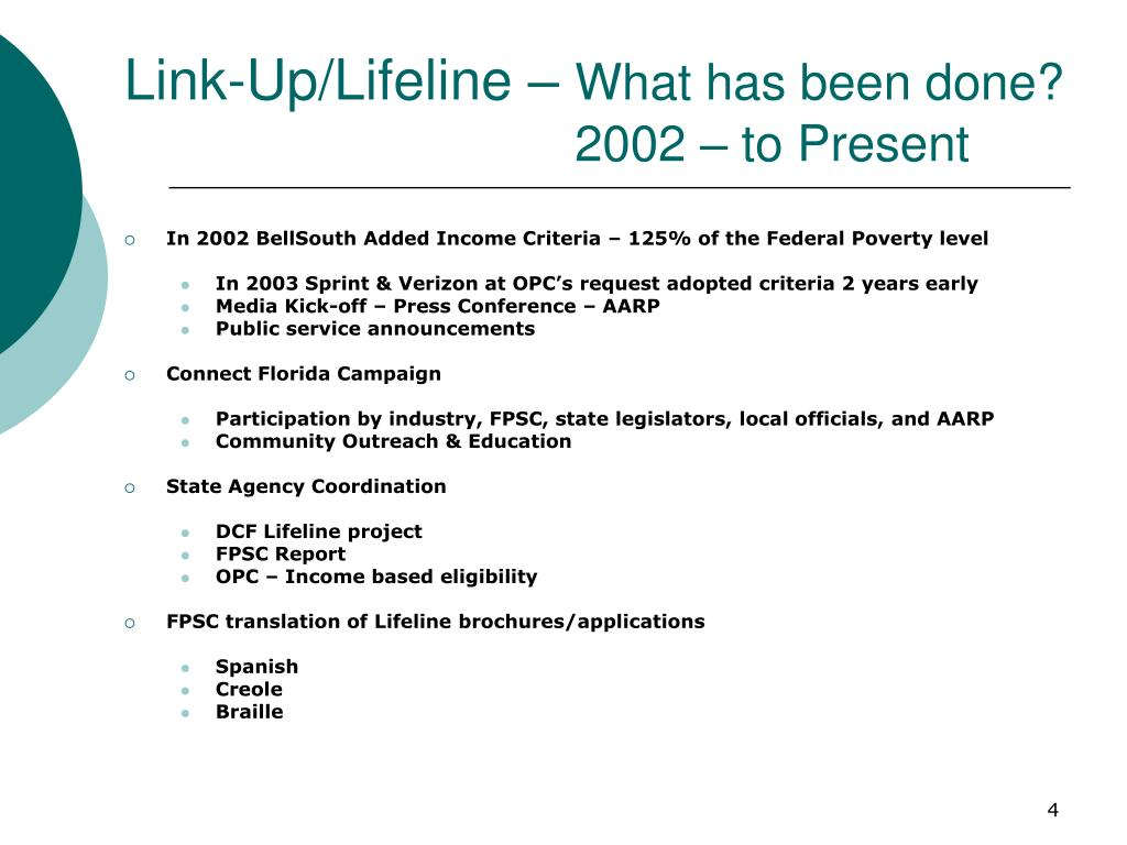 Link-Up/Lifeline –