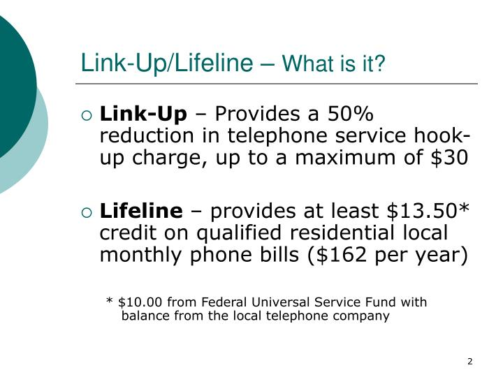 Link up lifeline what is it
