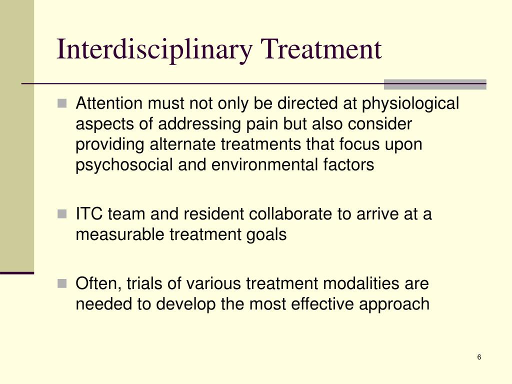 Interdisciplinary Treatment