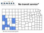 no transit service