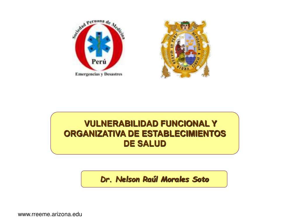 VULNERABILIDAD FUNCIONAL Y