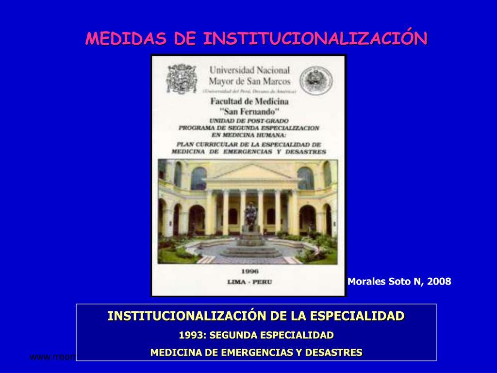 MEDIDAS DE INSTITUCIONALIZACIÓN