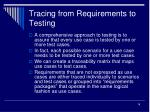 tracing from requirements to testing
