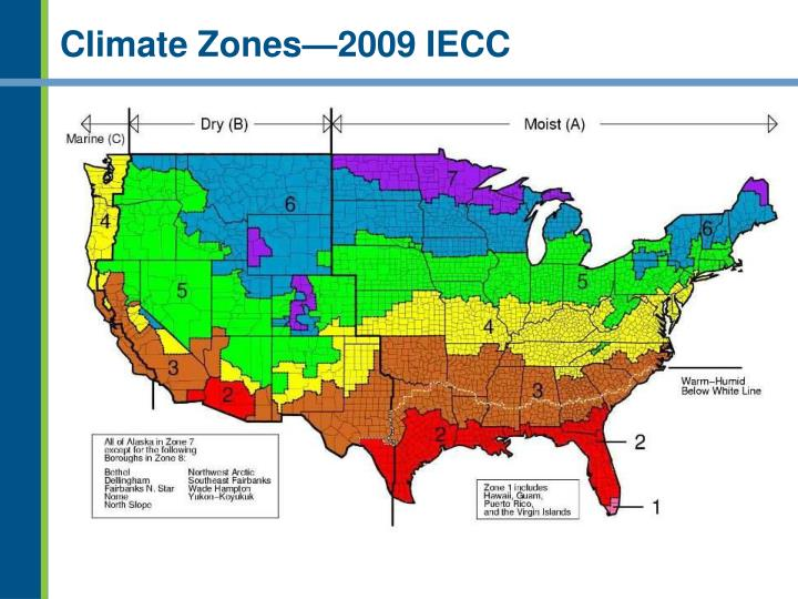 Climate zones 2009 iecc