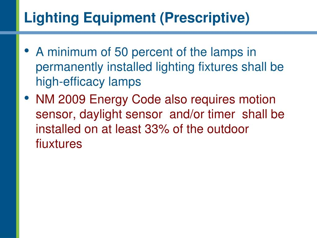 Lighting Equipment (Prescriptive)