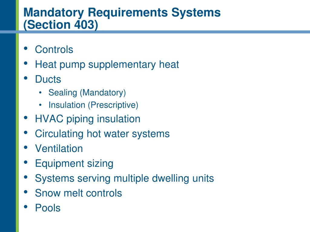 Mandatory Requirements Systems