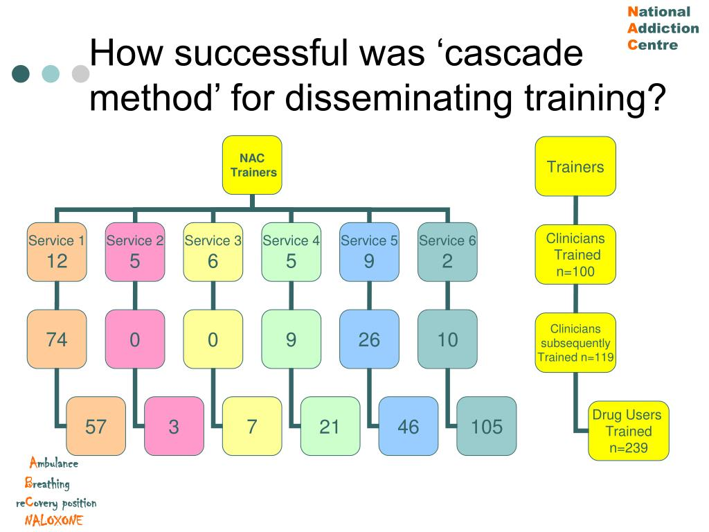 How successful was 'cascade method' for disseminating training?