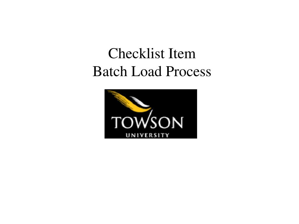 Checklist Item