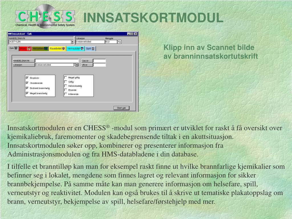 INNSATSKORTMODUL