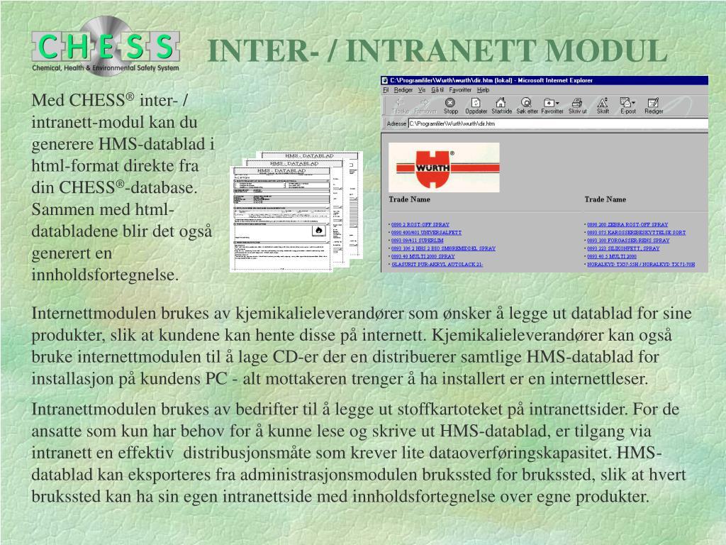 INTER- / INTRANETT MODUL