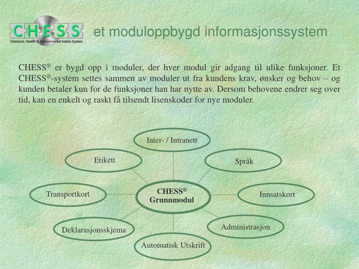 Et moduloppbygd informasjonssystem