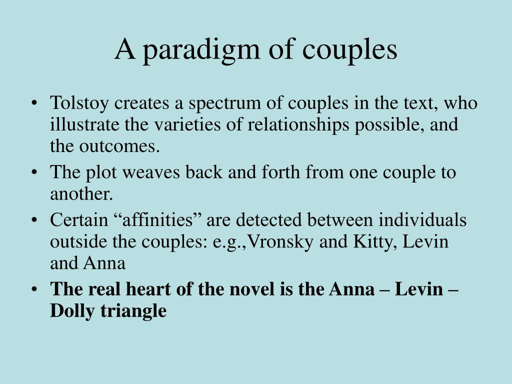 A paradigm of couples
