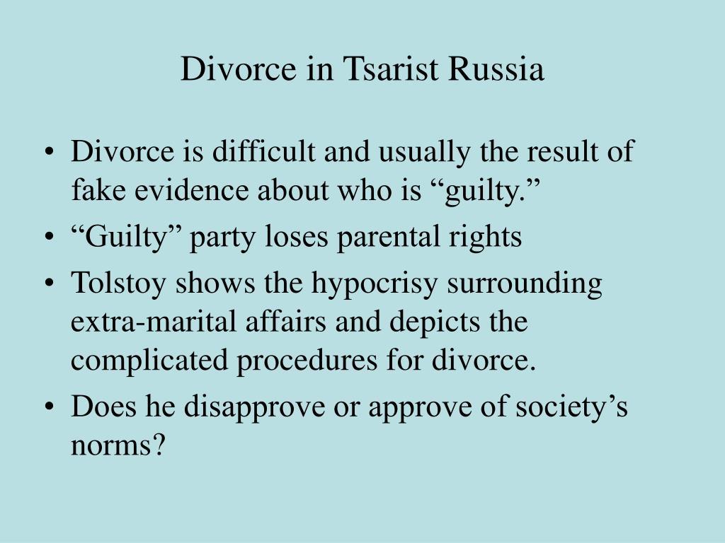 Divorce in Tsarist Russia