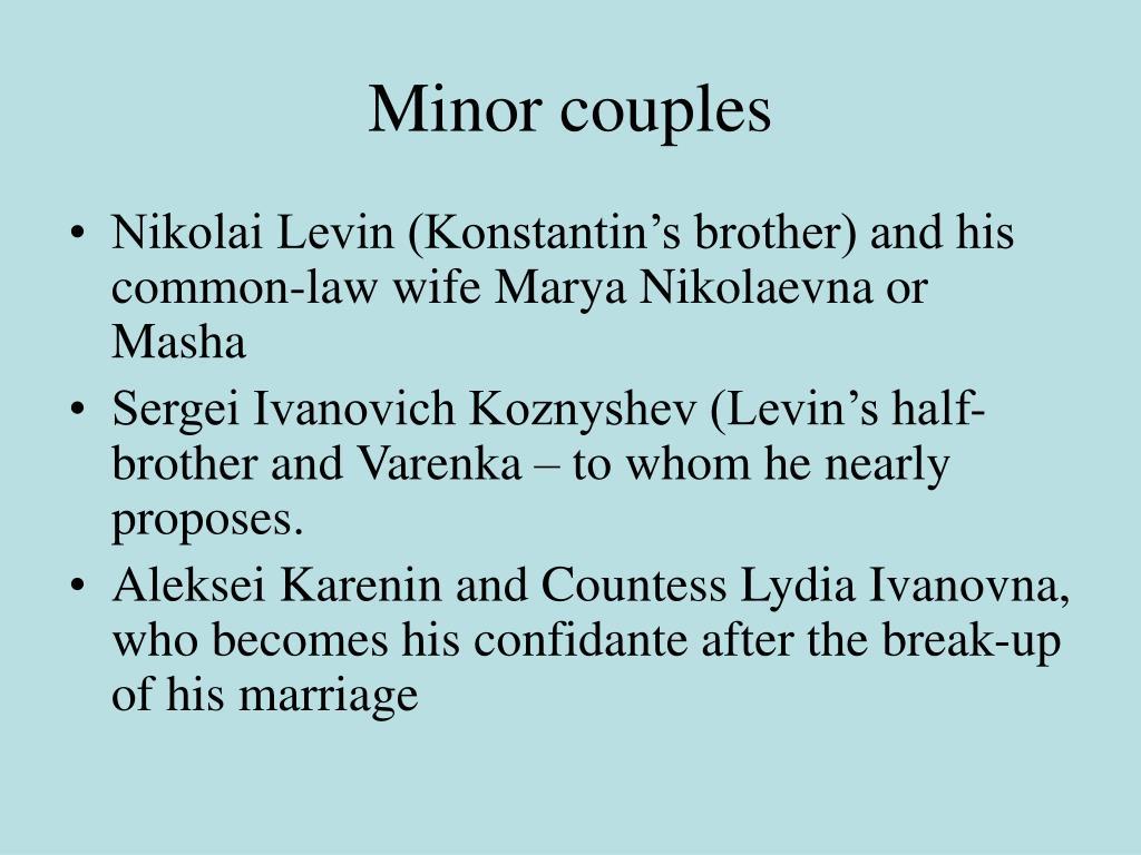Minor couples