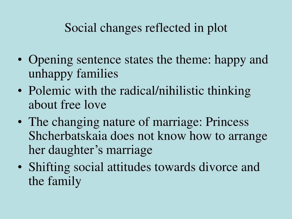 Social changes reflected in plot