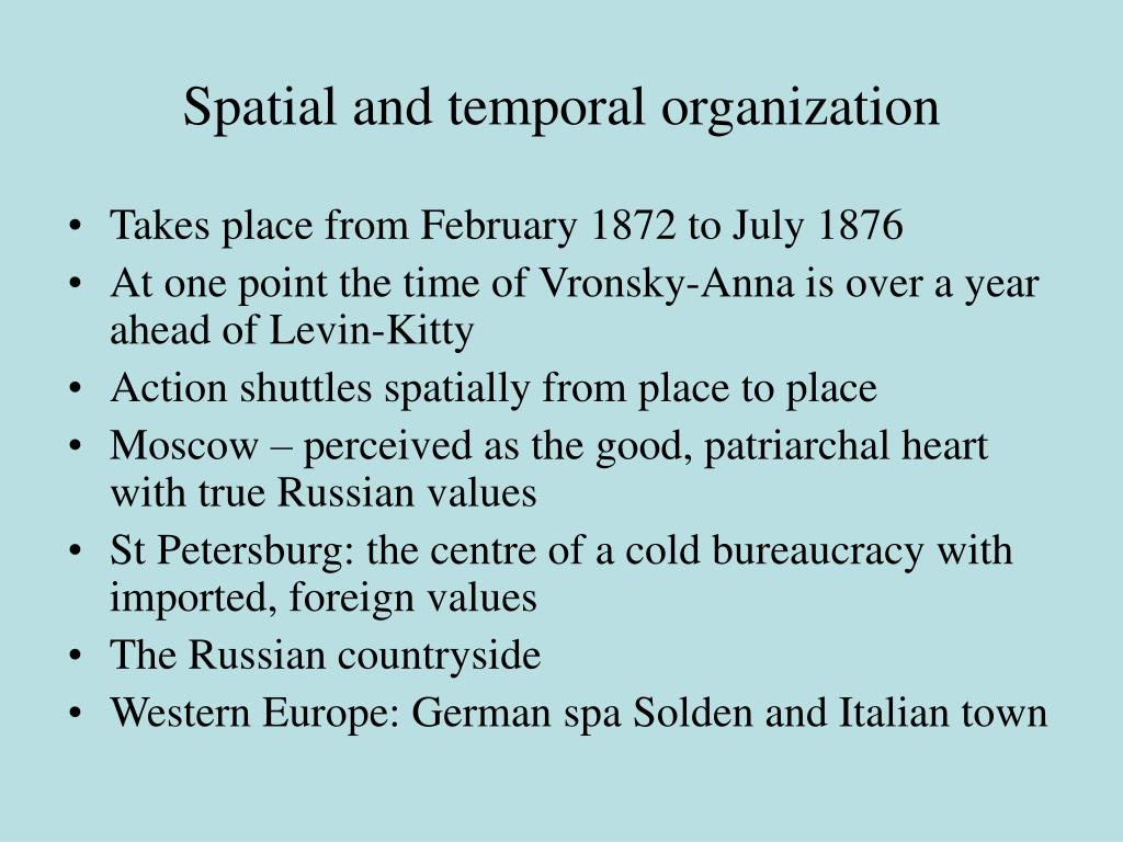 Spatial and temporal organization