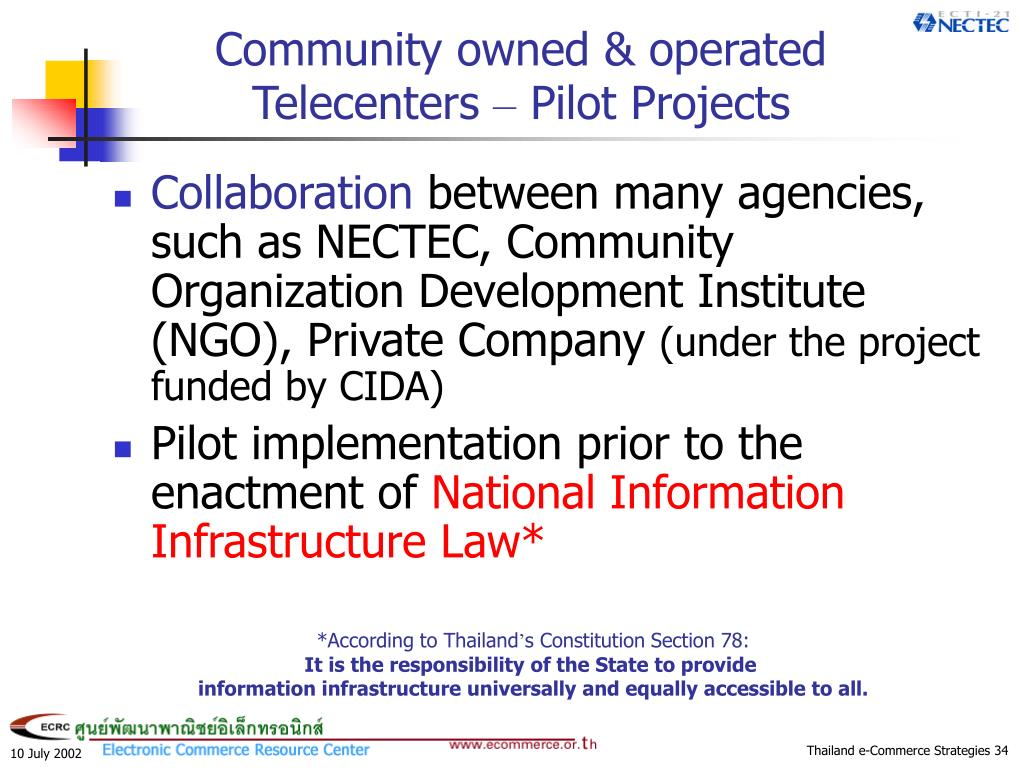 Community owned & operated Telecenters