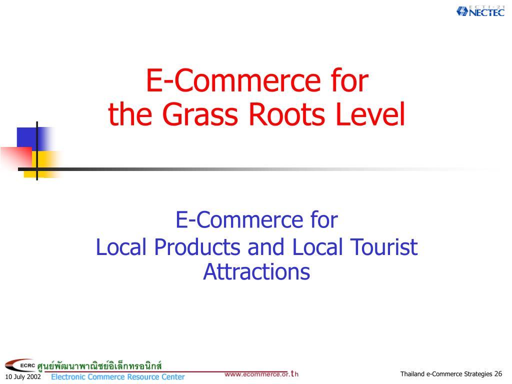 E-Commerce for