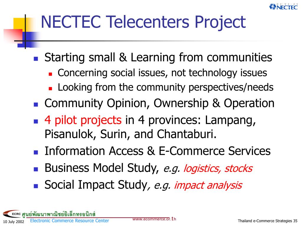 NECTEC Telecenters Project