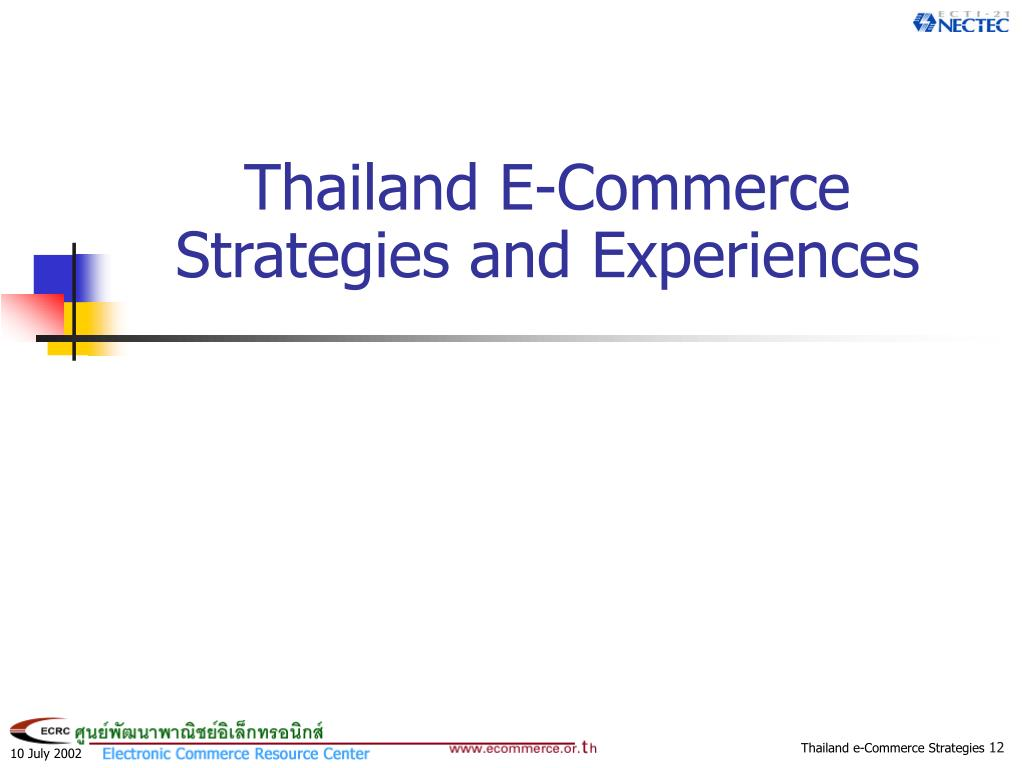 Thailand E-Commerce Strategies and Experiences