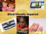 blind visually impaired