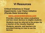 vi resources