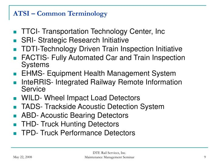 ATSI – Common Terminology