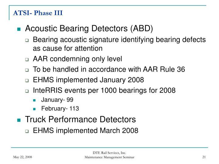 ATSI- Phase III