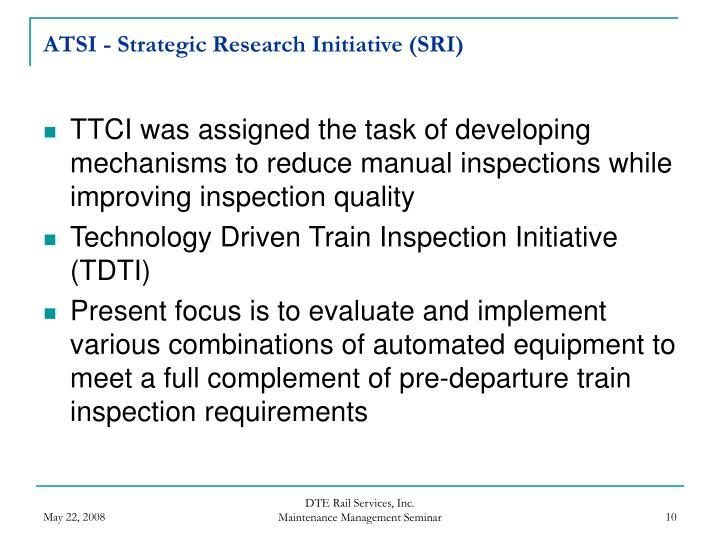 ATSI - Strategic Research Initiative (SRI)