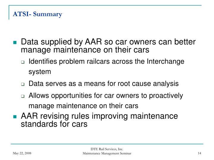 ATSI- Summary