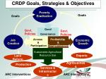 crdp goals strategies objectives