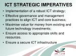 ict strategic imperatives