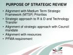 purpose of strategic review