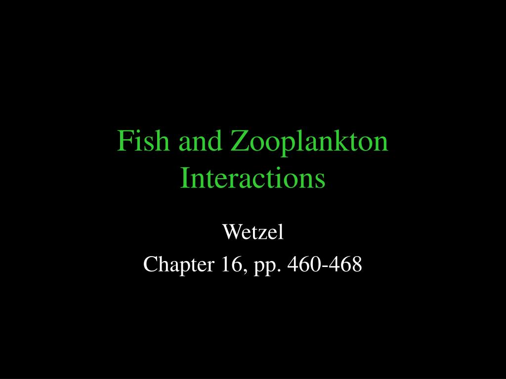 PPT - Fish and Zooplankton Interactions PowerPoint