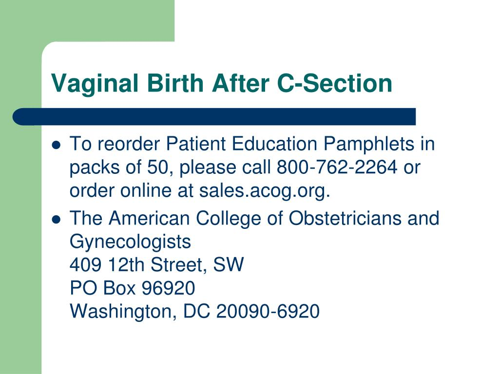 Vaginal Birth After C-Section