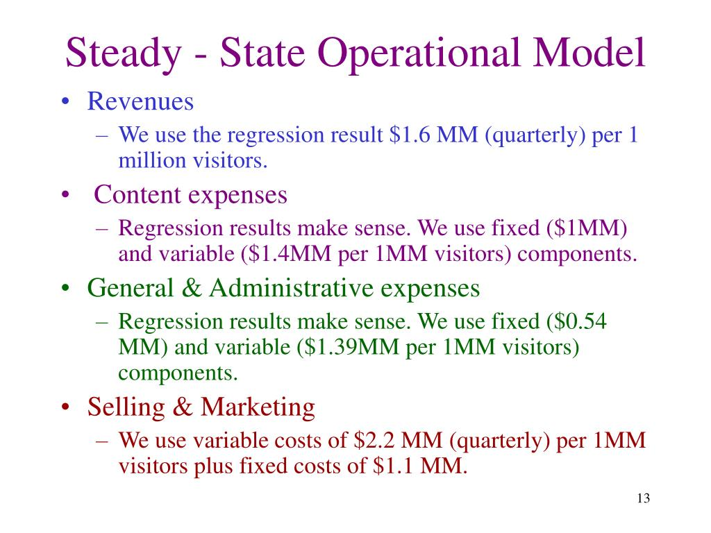 Steady - State Operational Model