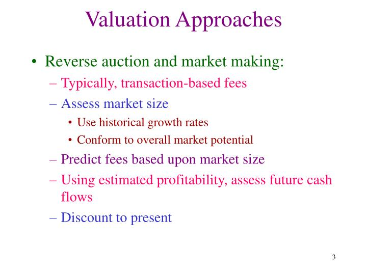 Valuation approaches3