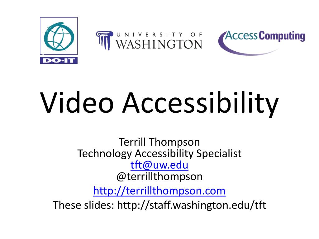video accessibility l.