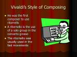 vivaldi s style of composing