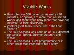vivaldi s works