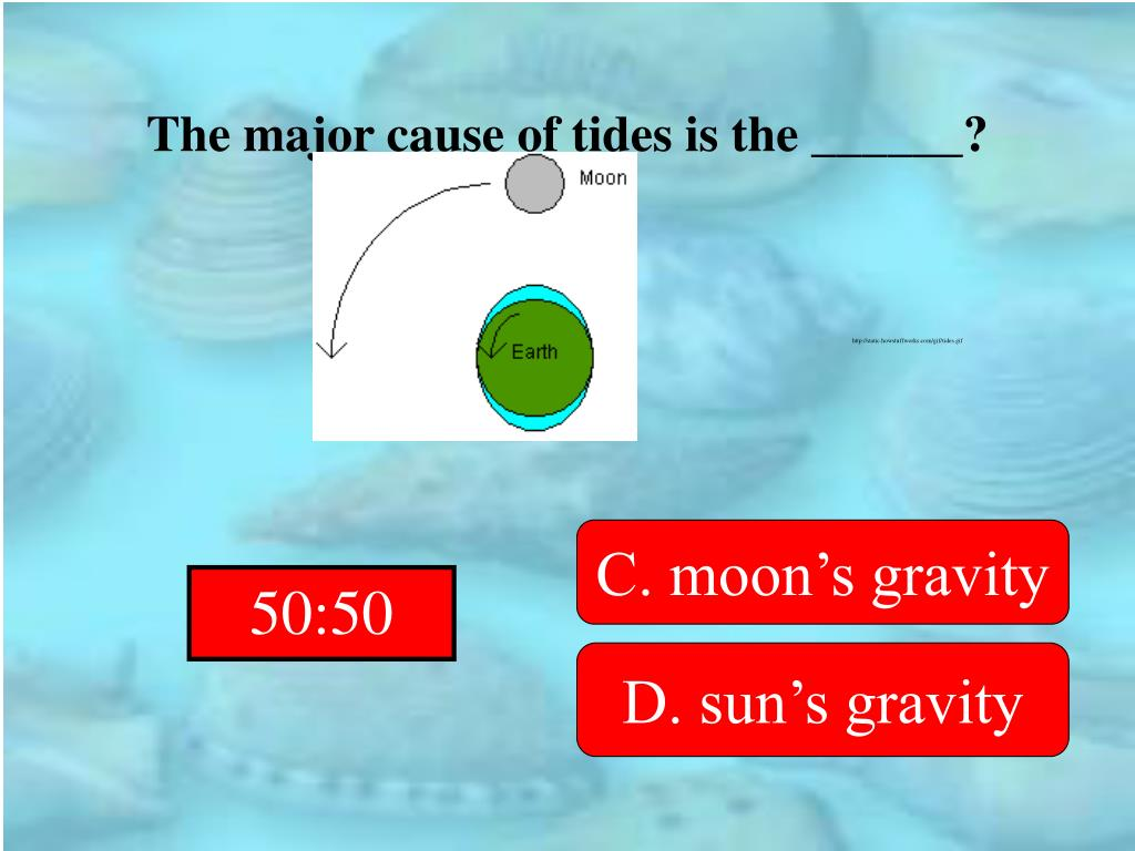 The major cause of tides is the ______?