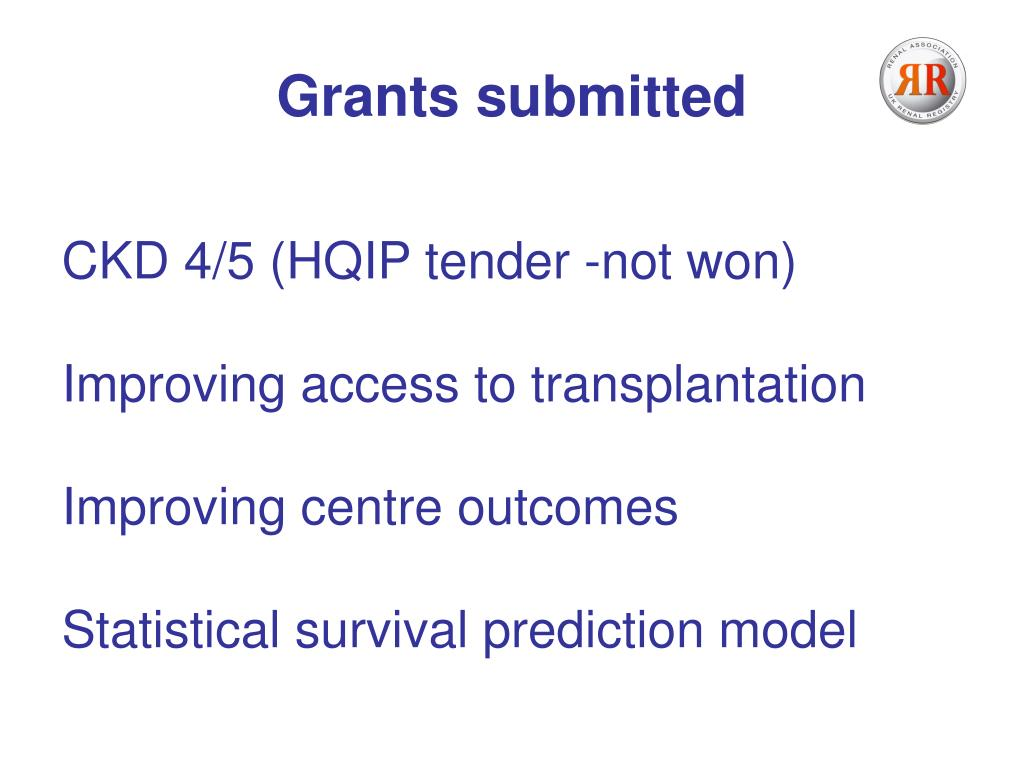 Grants submitted