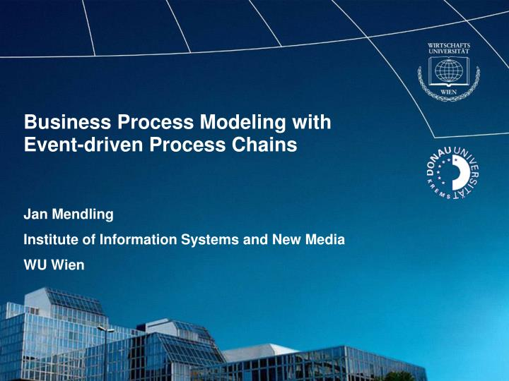 business process modeling with event driven process chains n.