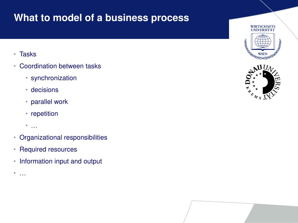 What to model of a business process
