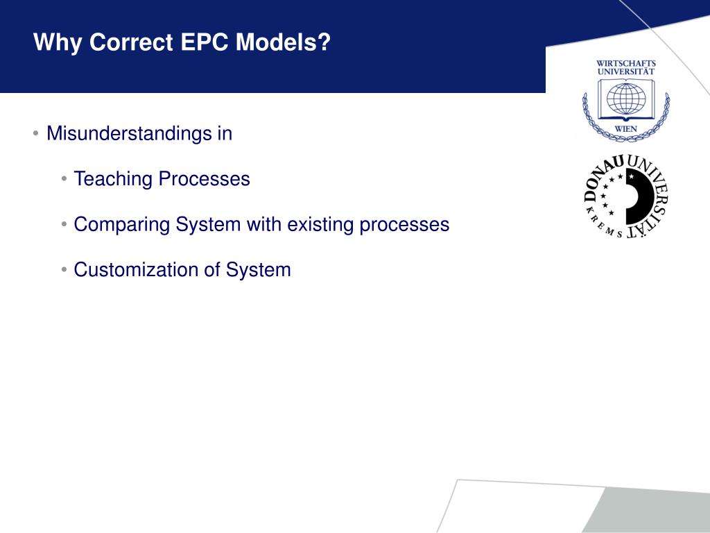 Why Correct EPC Models?