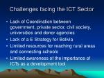 challenges facing the ict sector