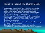 ideas to reduce the digital divide